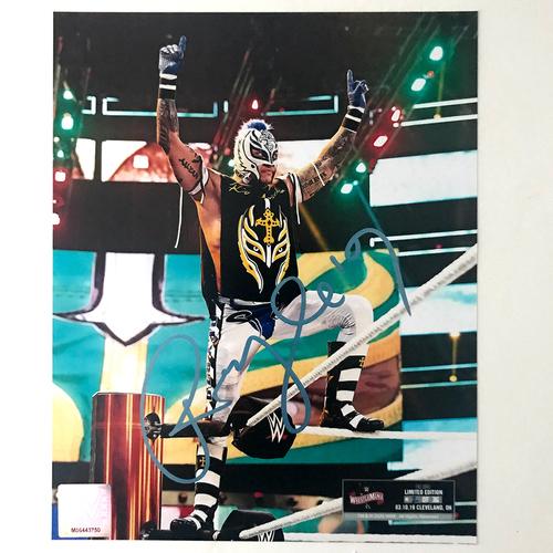 Photo of Rey Mysterio SIGNED WrestleMania 36 Exclusive Photo (Random Number)