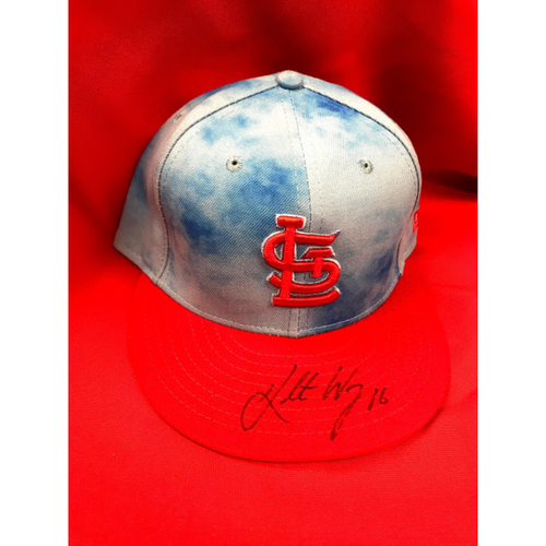 Photo of Kolten Wong Autographed Team Issued Father's Day Cap (Size 7 3/8)