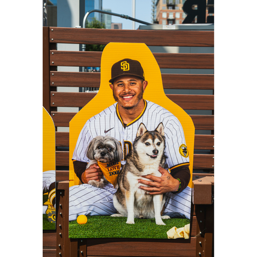 Photo of Manny Machado Autographed Pet Cutout (Not MLB Authenticated, COA Included) and PupBox