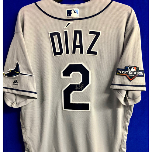 Photo of Team Issued Postseason Autographed Jersey: Yandy Diaz