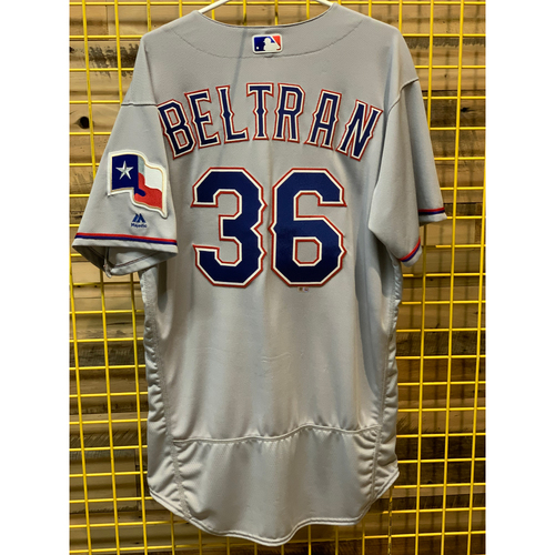 Photo of Carlos Beltran Team-Issued Road Jersey From 2018 Season