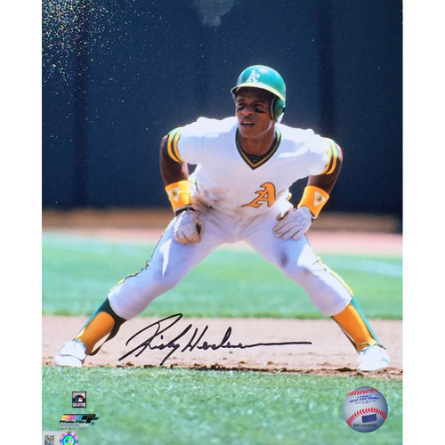 "Photo of Rickey Henderson Autographed 8""x10"" Leading Off Photo"