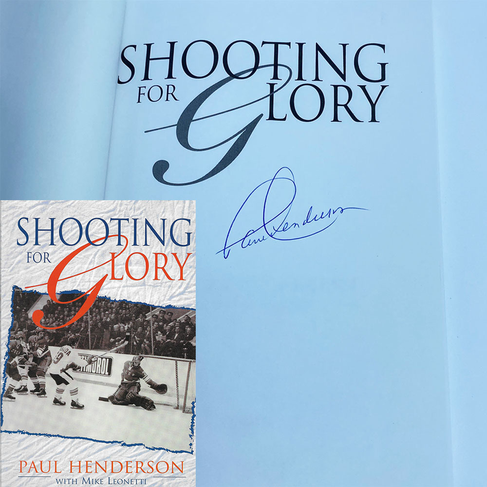 Paul Henderson Autographed Softcover Book - Shooting For Glory
