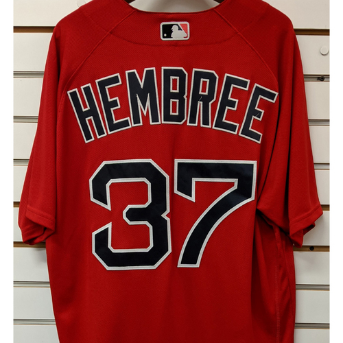 Photo of Heath Hembree #37 Team Issued Nike Red Spring Training Jersey