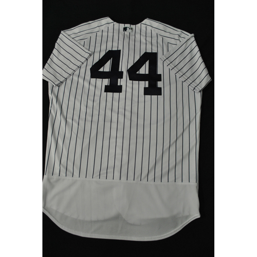 Photo of Hank Aaron Chasing the Dream Foundation: Gerrit Cole 2021 MLB All-Star Workout Day BP-Worn # 44 Jersey