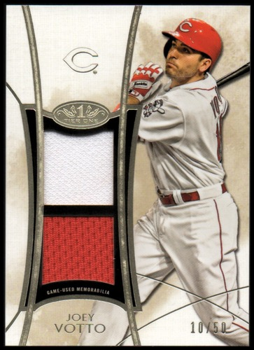 Photo of 2014 Topps Tier One Dual Relics #TORJVT Joey Votto