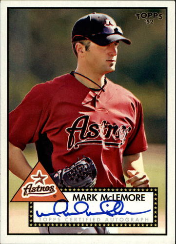 Photo of 2007 Topps 52 Signatures #MM Mark McLemore E