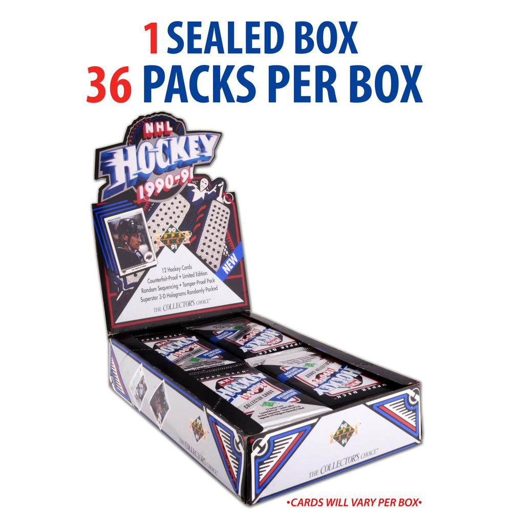 1990-91 Upper Deck Hockey Factory Sealed 36 Pack Box