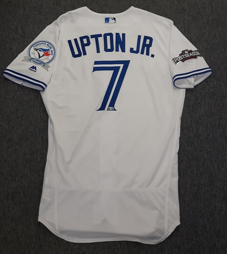 Photo of Authenticated Team Issued Jersey - #7 Melvin Upton Jr. (2016 Postseason). Size 42.