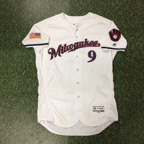 Photo of Manny Pina Game-Used 2018 Stars & Stripes Jersey - Solo HR (7/2/18)