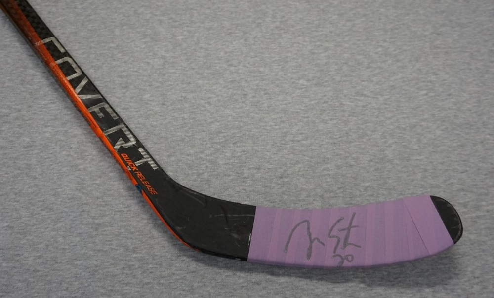 93d5cc3e695 Ryan Suter Minnesota Wild 2018-19 HFC Warm-Up Used Stick - NHL Auctions