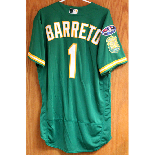 Team Issued Franklin Barreto 2018 Jersey w/ Postseason Patch