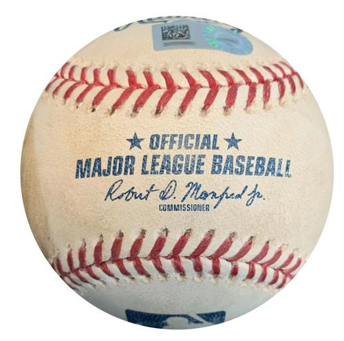 Photo of Game-Used Baseball from Pirates vs. Diamondbacks on 6/22/18 - Patrick Corbin Strikeout - Tied Career High with 12 Ks During Game
