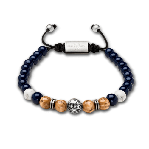 Photo of New York Yankees Bracelet - Wood and Navy Steel