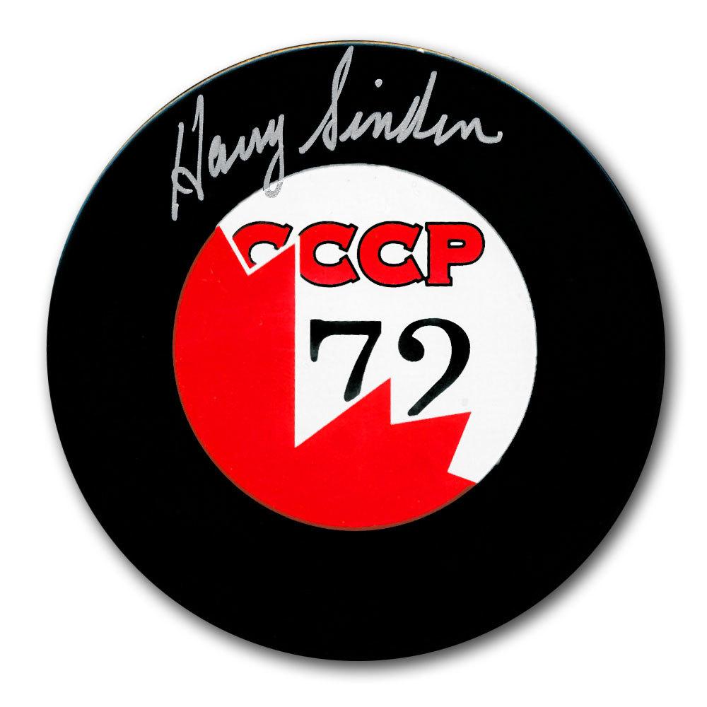 Harry Sinden Team Canada 1972 Summit Series Autographed Puck