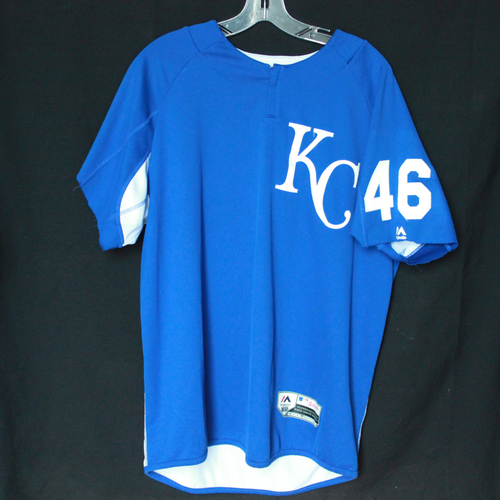 Photo of Team-Issued Batting Practice Jersey: #46 (Size -L)