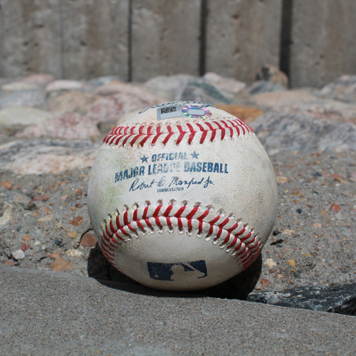 Photo of Game-Used Baseball: Tim Beckham 347th Career Hit (SEA @ KC - 4/10/19)