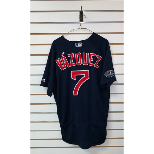 Photo of Christian Vazquez Game Used September 21, 2018 Road Alternate Jersey