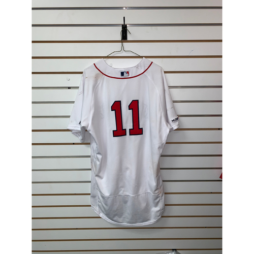 Photo of Rafael Devers Game Used September 17, 2019 Home Jersey