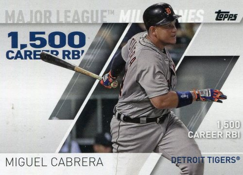 Photo of 2017 Topps Major League Milestones #MLM1 Miguel Cabrera