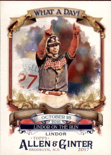 Photo of 2017 Topps Allen and Ginter What a Day #WAD42 Francisco Lindor