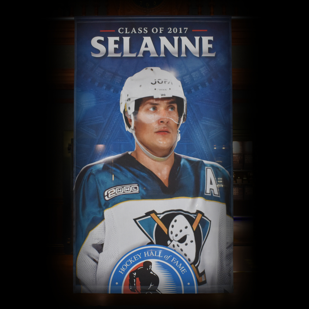 Teemu Selanne Hockey Hall of Fame Class of 2017 Banner (5ft x 9ft) - Limited Edition 1/1