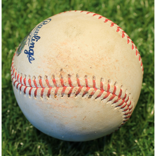 Photo of Game-Used Baseball: Alex Cobb 732nd Career Strikeout (LAA @ KC 4/12/21)