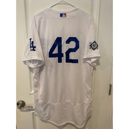 Photo of Dennis Santana Game-Used Jackie Robinson Day Jersey - Size 48