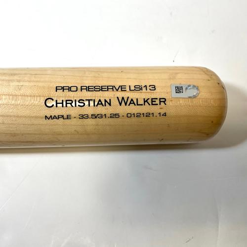 Photo of Christian Walker Game-Used Broken Bat vs. Pierce Johnson - D-backs @ Padres 8/6/2021