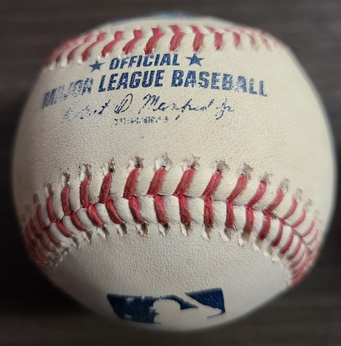 Photo of Authenticated Game Used Baseball: Single by Tim Anderson against Hyun Jin Ryu (Aug 26, 2021 vs CWS). Top 3.