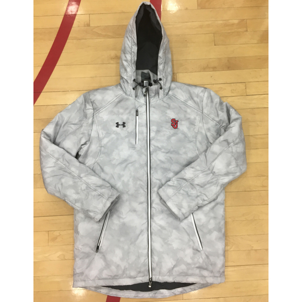 Photo of St. John's Under Armour White and Grey Men's Coat - Size Large