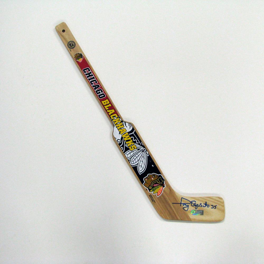 TONY ESPOSITO Signed Mini Stick - Chicago Blackhawks
