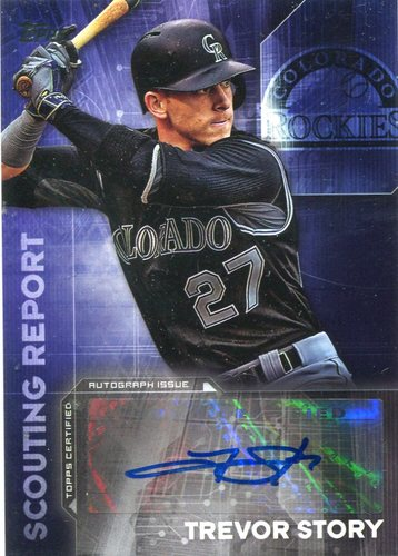 Photo of 2016 Topps Scouting Report Autographs Trevor Story