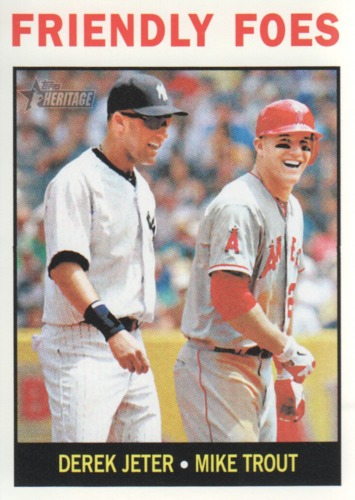 Photo of 2013 Topps Heritage #41 Derek Jeter/Mike Trout