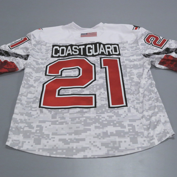 "Photo of Ohio State Ice Hockey Military Appreciation Jersey #21 ""Coast Guard"" / Size 54"