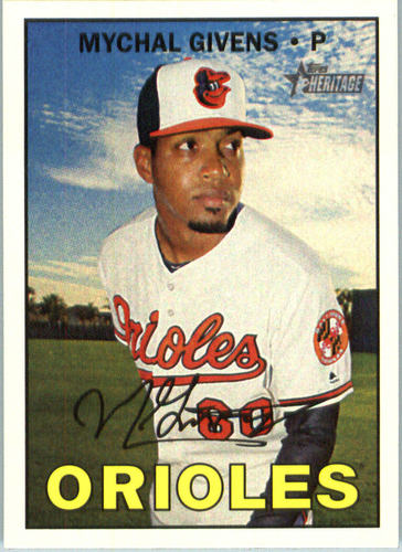 Photo of 2016 Topps Heritage #669 Mychal Givens