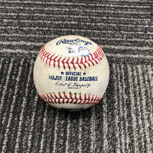Photo of 2017 San Francisco Giants - Game-Used Baseball - Jeff Samardzija Singles off Robbie Ray - 9/15/17