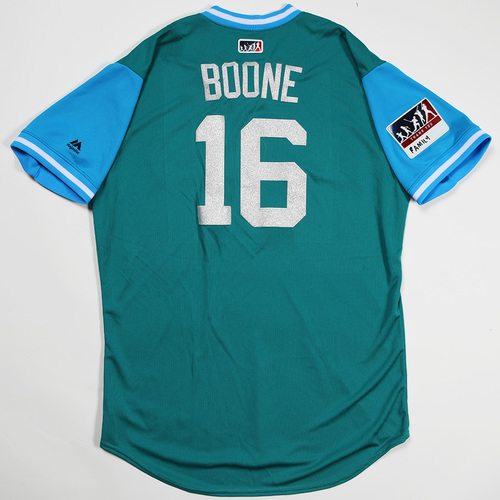 "Photo of Ben ""Boone"" Gamel Seattle Mariners Game-Used Players' Weekend Jersey"