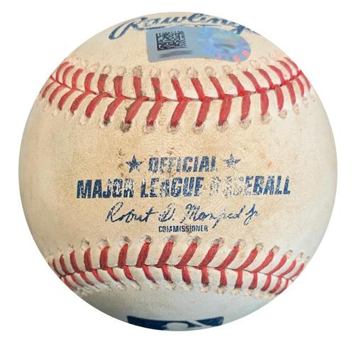 Photo of Game-Used Baseball from Pirates vs. Diamondbacks on 6/22/18 - Goldschmidt Grounds into FO, Lamb Single, Pitch to Peralta