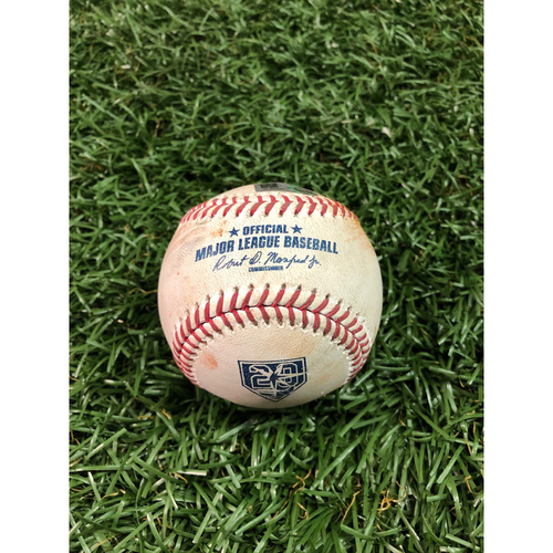 Photo of 20th Anniversary Game Used Baseball: Joey Rickard double off Ryan Yarbrough - September 8, 2018 v BAL