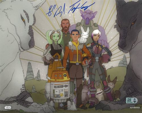 Freddie Prinze Jr. and Taylor Gray As Kanan Jarrus and Ezra Bridger 8X10 Autographed in Blue Ink Photo