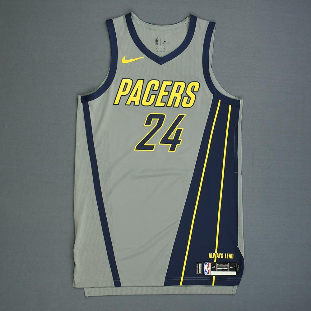 separation shoes 5b862 cde60 Alize Johnson - Indiana Pacers - Game-Worn City Edition ...