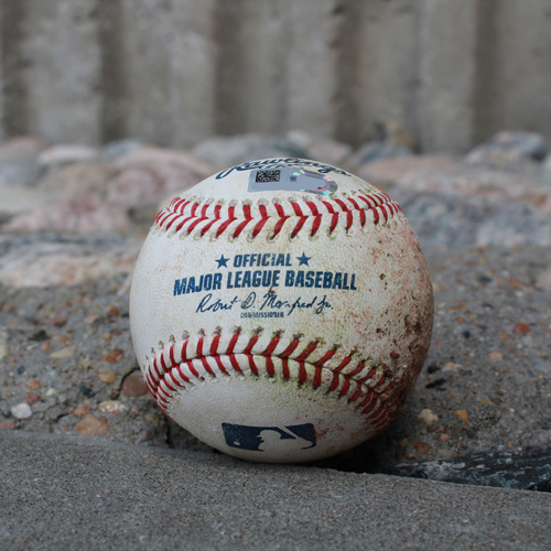 Photo of Game-Used Baseball: Ryon Healy 370th Career Hit (SEA @ KC - 4/10/19)