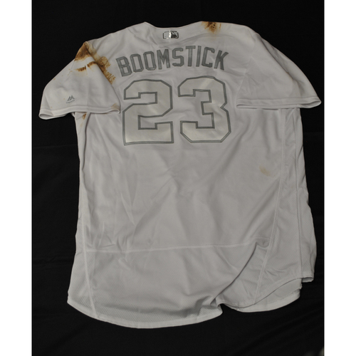 "Photo of Nelson ""Boomstick"" Cruz Minnesota Twins Game-Used 2019 Players' Weekend Jersey"