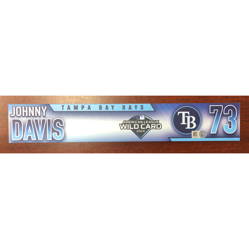 Photo of Game Used A.L. Wild Card Locker Tag: Johnny Davis - First Career Post Season Game