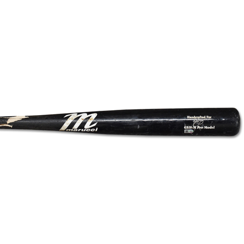 Photo of Todd Frazier #21 - Game-Used Cracked Bat - Black Marucci Model - Mets vs. Braves - 8/15/19