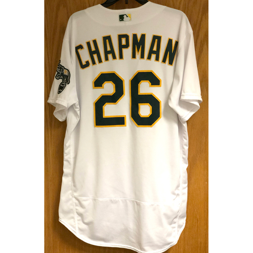 Photo of Game-Used Jersey: Matt Chapman HR (1) - 7/29/20 vs COL