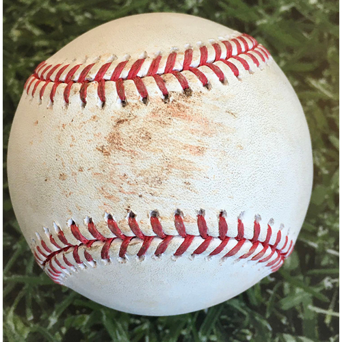 Photo of Game-Used Baseball PIT@MIL 08/31/20 - Brent Suter - Jose Osuna: Strikeout