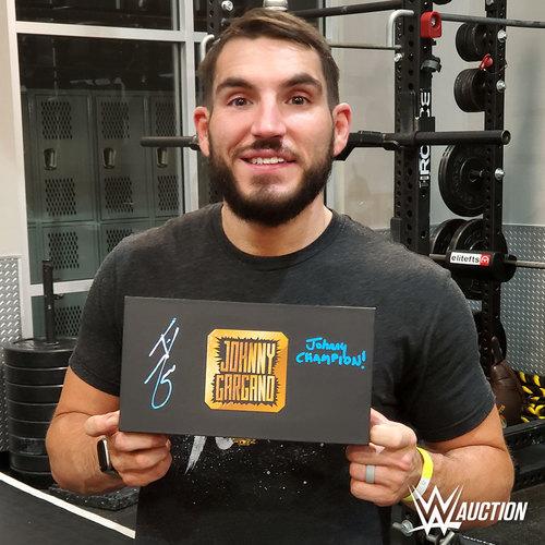 Johnny Gargano SIGNED NXT Championship Replica Side Plate Box Set