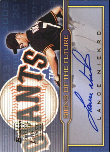 Photo of 2002 Bowman Draft Signs of the Future #LN Lance Niekro A